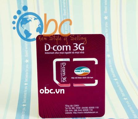 Sim 3G Viettel 2.5Gb khuyến mãi 12 tháng