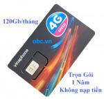 Sim 3G 4G OBC Vinaphone 4Gb/ngày trọn gói 1 năm