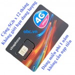 Sim 3G 4G ezCom Vinaphone 60Gb trọn gói 1 năm
