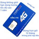 Sim 3G 4G OBC Mobifone không giới hạn dung lượng MAX băng thông 1 năm
