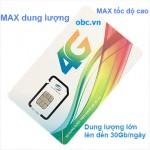 Sim 3G 4G Viettel OBC dung lượng khủng, MAX tốc độ cao